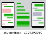 set of blank template messaging ... | Shutterstock .eps vector #1724293060