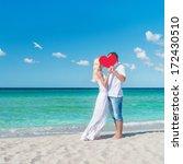 Loving Romantic Hug Couple At...