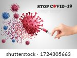 coranavirus concept background. ... | Shutterstock .eps vector #1724305663
