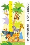 height meter with wild animals...   Shutterstock .eps vector #1724318020