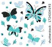 butterfly pattern. pretty...   Shutterstock .eps vector #1724334193