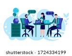 brainstorming and creativity.... | Shutterstock .eps vector #1724334199