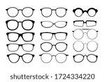 black glasses rim. eyeglasses... | Shutterstock .eps vector #1724334220