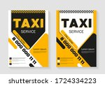 taxi service layout. vertical... | Shutterstock .eps vector #1724334223