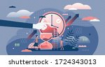 time management vector... | Shutterstock .eps vector #1724343013