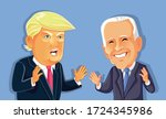 ny  usa  may 7  donald trump... | Shutterstock .eps vector #1724345986