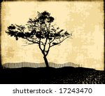 Vector Tree Silhouette On...