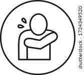 safe coughing icon  preventive... | Shutterstock .eps vector #1724349520