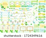 cute frame set for spring | Shutterstock .eps vector #1724349616