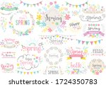 cute design characters for... | Shutterstock .eps vector #1724350783