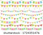 cute design garland set for... | Shutterstock .eps vector #1724351476