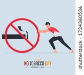 may 31st world no tobacco day... | Shutterstock .eps vector #1724360536