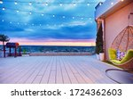 Rooftop Deck Patio Area With...