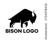 Simple Shape Bison Logo Vector...