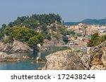 the village of parga in epirus... | Shutterstock . vector #172438244