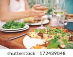 healthy restaurant lunch for...   Shutterstock . vector #172439048
