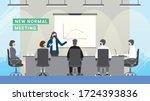 business crisis loss profit.... | Shutterstock .eps vector #1724393836