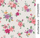 vintage tiny flower seamless... | Shutterstock .eps vector #172442090