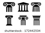 column icons - stock vector