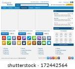web design elements set. online ... | Shutterstock .eps vector #172442564