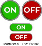 on off button. template vector...