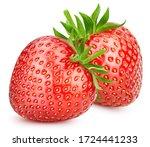 Two Strawberries. Fresh Organic ...