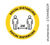 social distancing. keep the 2...   Shutterstock .eps vector #1724448229
