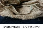 Close Up Of Burlap Sacks With...