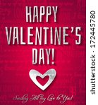 valentines day greeting card... | Shutterstock .eps vector #172445780