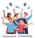 group of five people... | Shutterstock .eps vector #1724479630