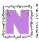 the letter n  in the alphabet... | Shutterstock . vector #172448870