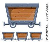 Mine Cart Vector Design...