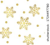 christmas gold pattern ... | Shutterstock . vector #1724497780