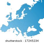 europe map | Shutterstock .eps vector #17245234