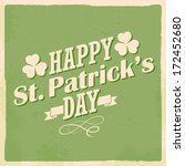 illustration of saint patrick's ... | Shutterstock .eps vector #172452680