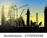 construction vector background... | Shutterstock .eps vector #1724554336