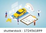car market analysis concept... | Shutterstock .eps vector #1724561899