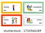 unsatisfied customer ... | Shutterstock .eps vector #1724566189