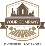farm land logo colorful icons ... | Shutterstock .eps vector #1724567059