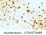 geometric anniversary card.... | Shutterstock .eps vector #1724573689