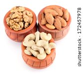 almonds  cashews and walnuts in ... | Shutterstock . vector #172457978