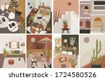 abstract interior in the home...   Shutterstock .eps vector #1724580526
