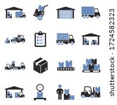 warehouse icons. two tone flat...   Shutterstock .eps vector #1724582323