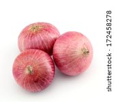 red onions on white | Shutterstock . vector #172458278