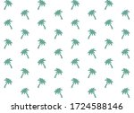 green palm tree pattern  ... | Shutterstock .eps vector #1724588146