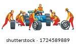 pit stop crew members in...   Shutterstock .eps vector #1724589889