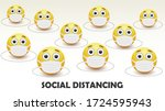 social distancing concept for... | Shutterstock .eps vector #1724595943