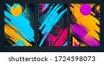 vector abstract composition... | Shutterstock .eps vector #1724598073