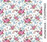 bright seamless pattern flowers ...   Shutterstock . vector #1724599663