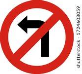 traffic signs. illustration of ... | Shutterstock .eps vector #1724603059